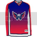 Washington Capitals gradient red arms